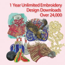 1 Year Unlimited Embroidery Design Downloads over 24,000