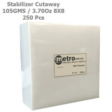 Cutaway (Soft) Stabilizer 8X8 105 Grams 3.70 oz. 250Pc