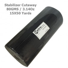 "Cutaway Stabilizer (soft) 15""X50 yards BLACK 80 Grams 3.14 oz"