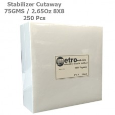 Cutaway (Soft) Stabilizer 8x8 75 Grams 2.65 oz. 250Pc