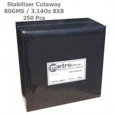 Cutaway Stabilizer (soft) 8X8 BLACK 80 Grams 3.14 oz 250Pc