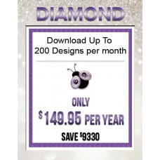 1 Year Diamond Subscription to Download up to 200 Designs Each Month Over 25,000 available