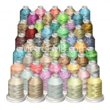 50 Metro Embroidery Variegated Colors Package @ $.75 each