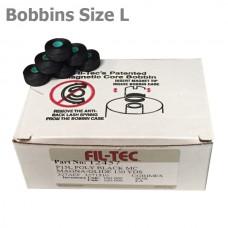 12457 Filtec Magnetic Bobbins Size L Black 100Pc