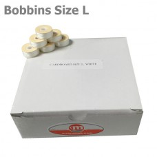 "Cardboard Size L bobbins ""White"" 144 units per box"