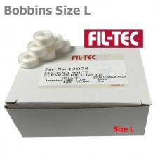 13078 Filtec Plastic Bobbins Size L White 100Pc
