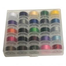 25 Plastic Color Bobbins -  Size L