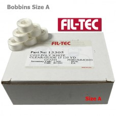 13305 Filtec Plastic Bobbins Size A White 80Pc