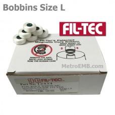 12434 Filtec Magnetic Bobbins Size L White 100Pc