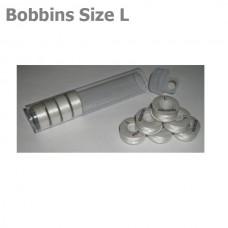 """TUBE 10 Size L Plastic bobbins """"White"""""""