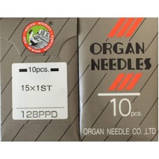10 Organ Needles FLAT SHANK 80/12 Ball Point TITANIUM PD