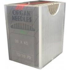 100 Organ Needles 70/10 Round Shank REGULAR POINT TITANIUM