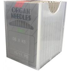 100 Organ Needles 75/11 Round Shank SHARP POINT TITANIUM