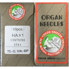 10 ORGAN NEEDLES FLAT SHANK 75/11 BALL POINT