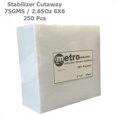 Cutaway (Soft) Stabilizer 6X6 75 Grams 2.65 oz. 250Pc