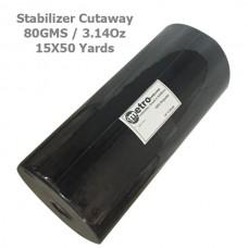 """Cutaway Stabilizer (soft) 15""""X50 yards BLACK 80 Grams 3.14 oz"""