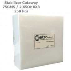 Cutaway (Soft) Stabilizer 8x8 75 Grams 2.65 oz. 250Pc