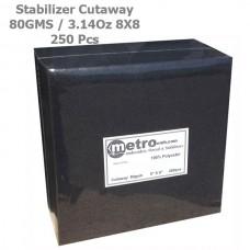 Cutaway Stabilizer (soft) 8X8 BLACK 80 Grams 3.14 oz 250Pc