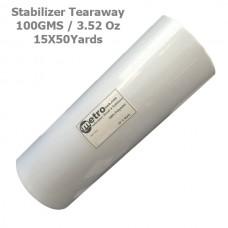 Tearaway Stabilizer 15X50yards Roll 100 Grams 3.52 oz.