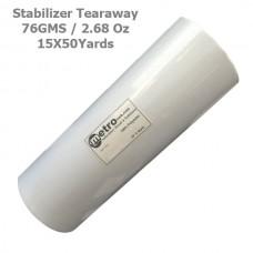 Tearaway Stabilizer 15X50yards Roll 76 Grams 2.68 oz.
