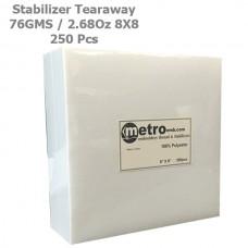 Tearaway Stabilizer 8X8 76 Grams 2.68 oz. 250Pc