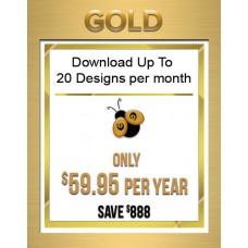 1 Year Gold Subscription to Download up to 20 Designs Each Month Over 25,000 available
