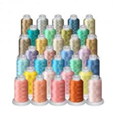 32 Light Pastel Mini Spool (1000M) Package @ $0.80 each spool